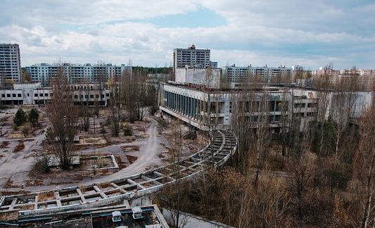 istock House of culture Energetik at Chernobyl city, Ukraine. Abadoned 638747350