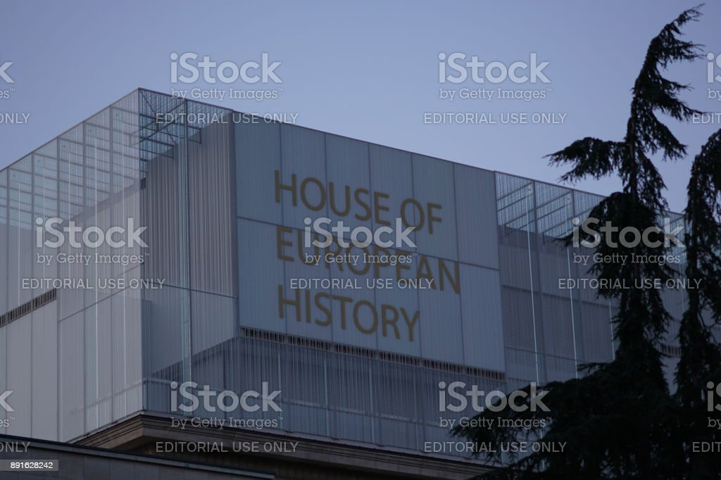 House of European History museum in Brussels, Belgium stock photo