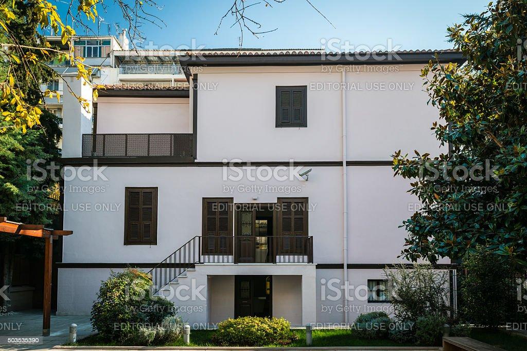 House of Ghazi Mustafa Kemal Atatürk in Thessoloniki, Greece stock photo