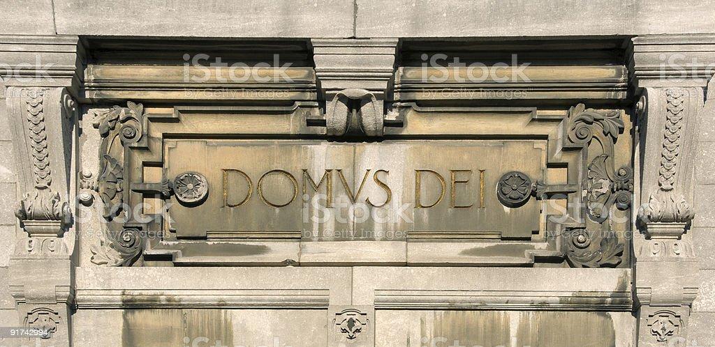 House of God inscription royalty-free stock photo