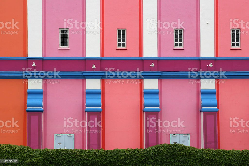 House of many colors royalty-free stock photo