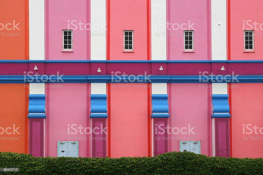 Haus der vielen Farben Lizenzfreies stock-foto