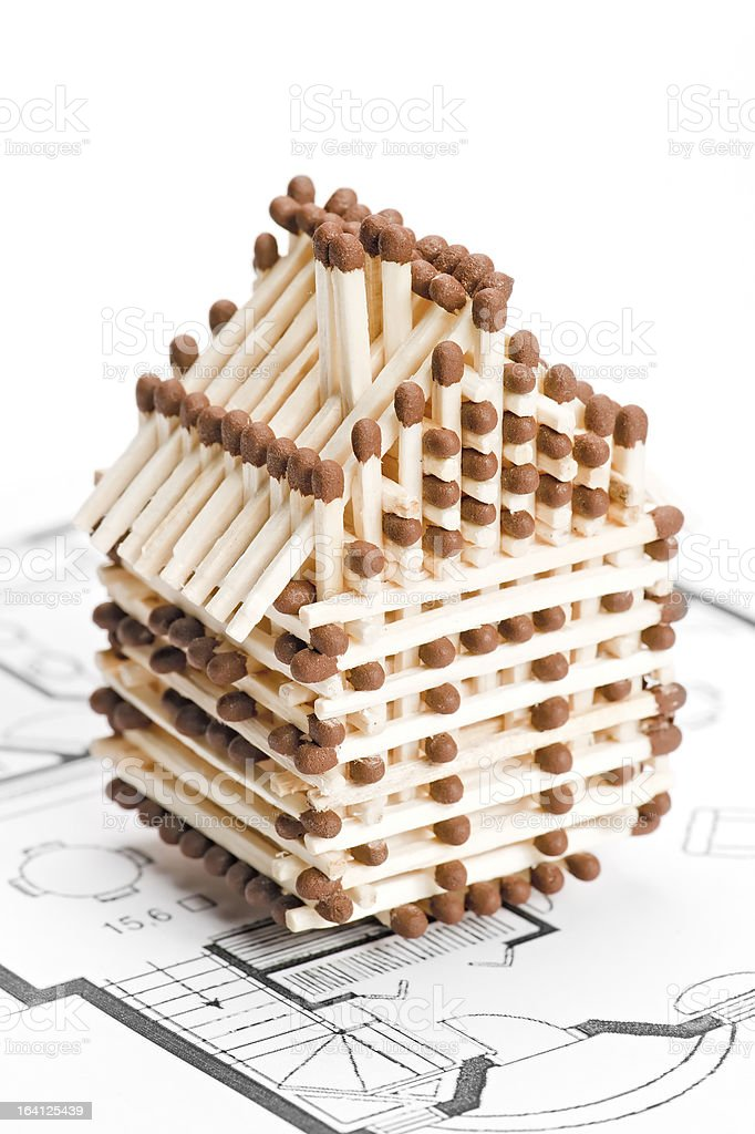 House of matches royalty-free stock photo