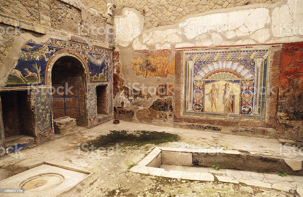 House of Neptune and Amphitrite stock photo