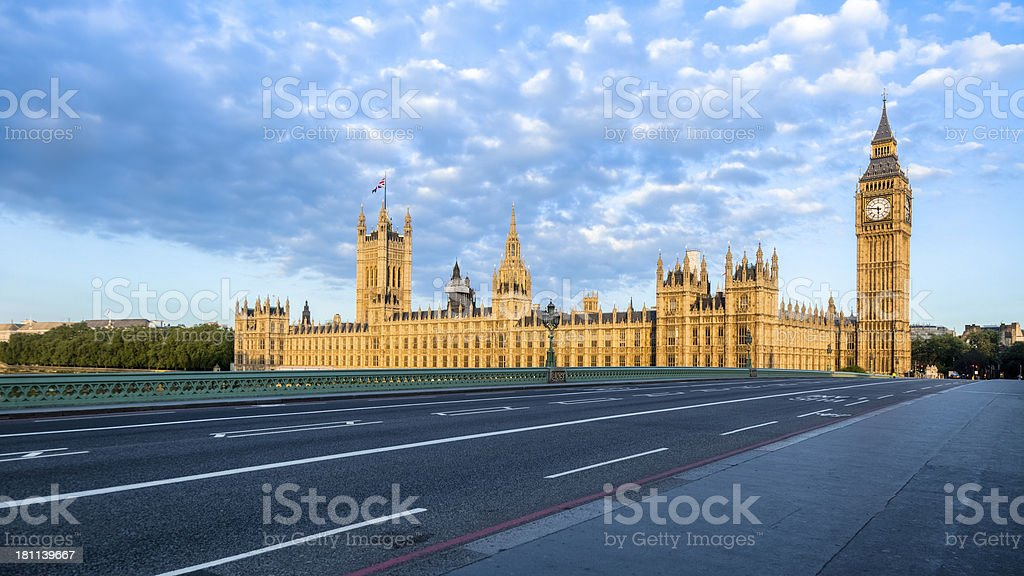 House of Parliament and Big Ben at Sunrise royalty-free stock photo