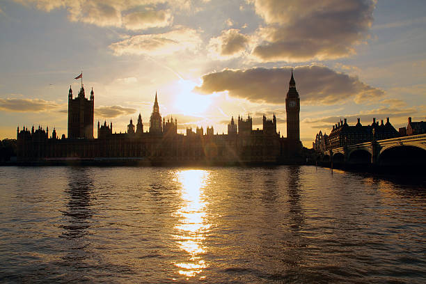 House of Parliament at Sunset stock photo