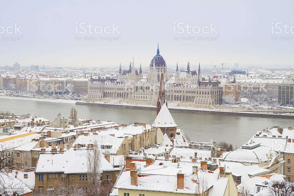 house of  parliament, Budapest, Hungary stock photo