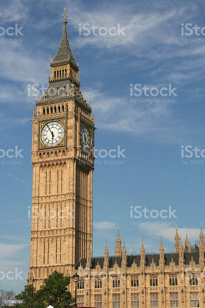 House of Parliament clock tower building royalty-free stock photo