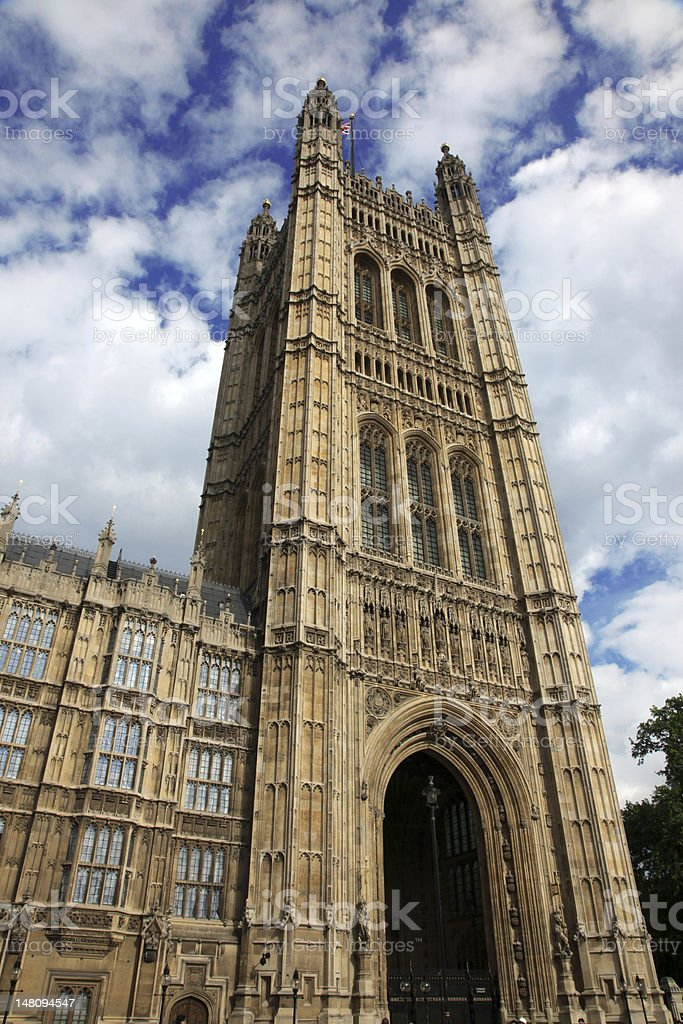 House of Parliament in London, UK royalty-free stock photo