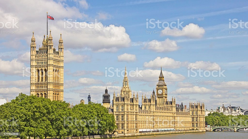 House of Parliament in London, United Kingdom royalty-free stock photo