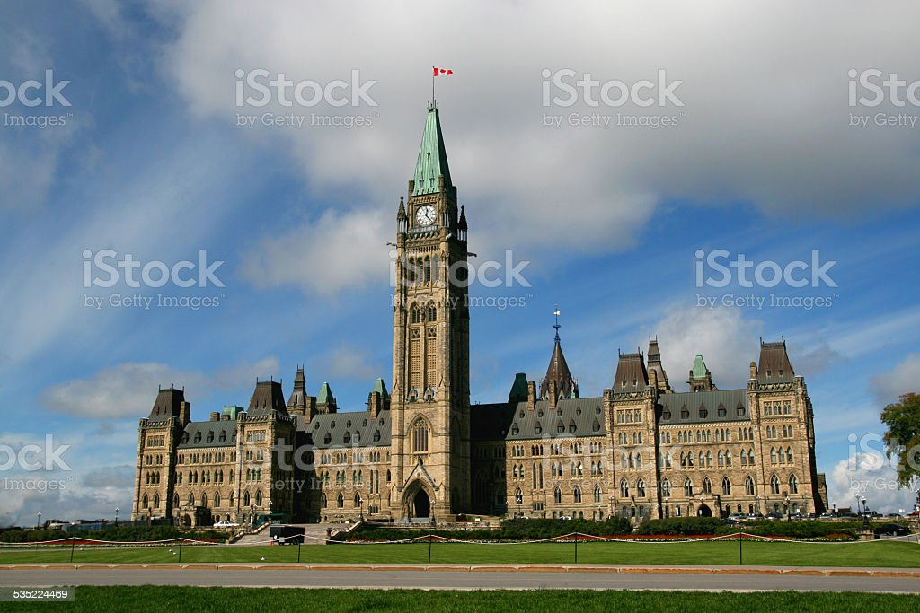House of Parliament Ottawa stock photo
