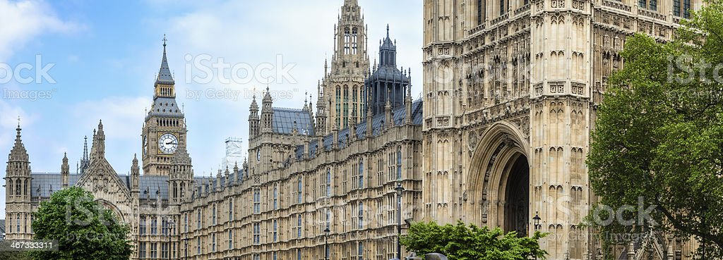 House of Parliament with Big Ben Clock Tower royalty-free stock photo