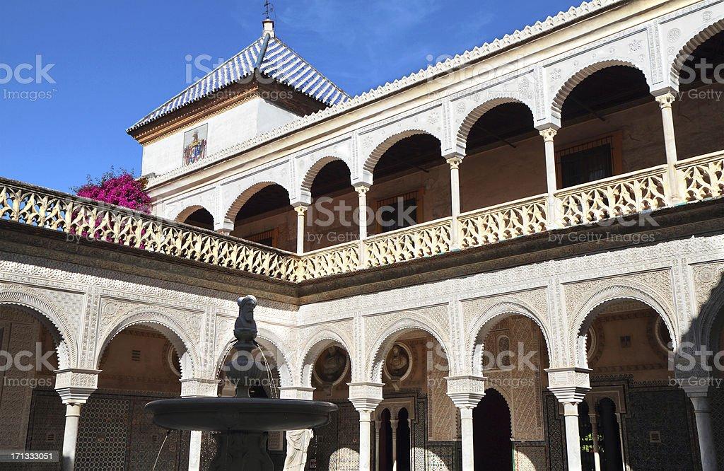 Casa de Pilatos, Seville, Spain stock photo