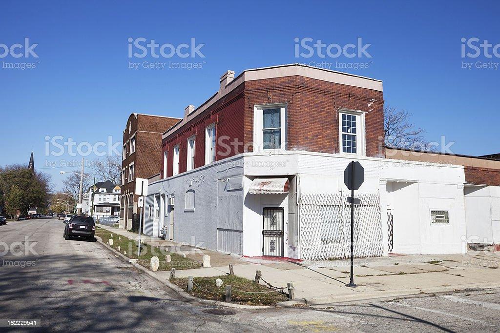 House of Prayer in Chicago Neighborhood royalty-free stock photo