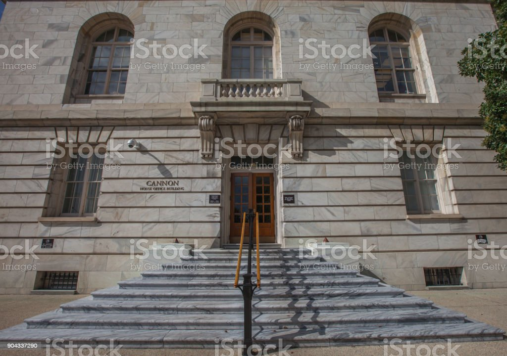 U.S. House of Representatives Cannon Office Building in Washington, DC stock photo