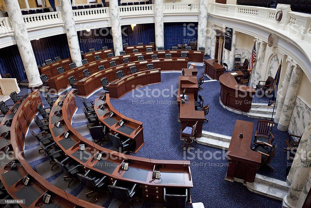 House of Representatives Chamber Idaho State Capitol royalty-free stock photo