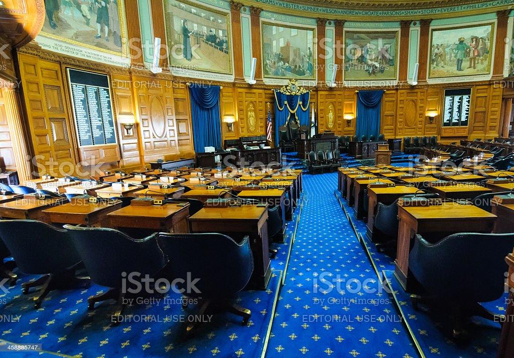 House of Representatives Chamber-Boston stock photo