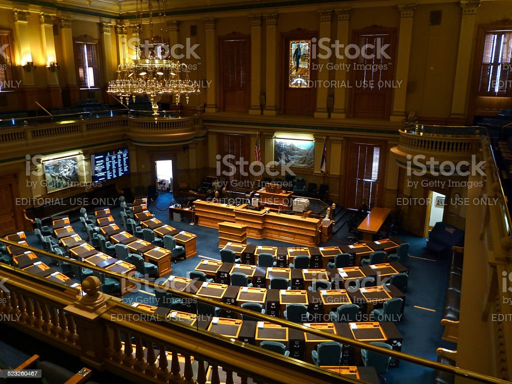 House of Representatives Colorado State Capitol Denver stock photo
