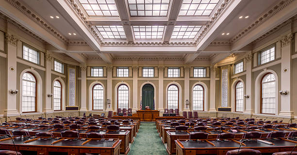 House of Representatives in Maine stock photo