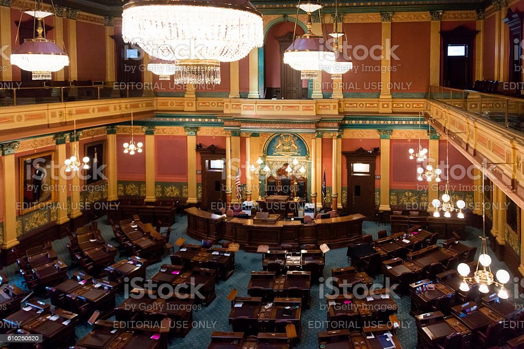 House of Representatives of Michigan, Lansing stock photo