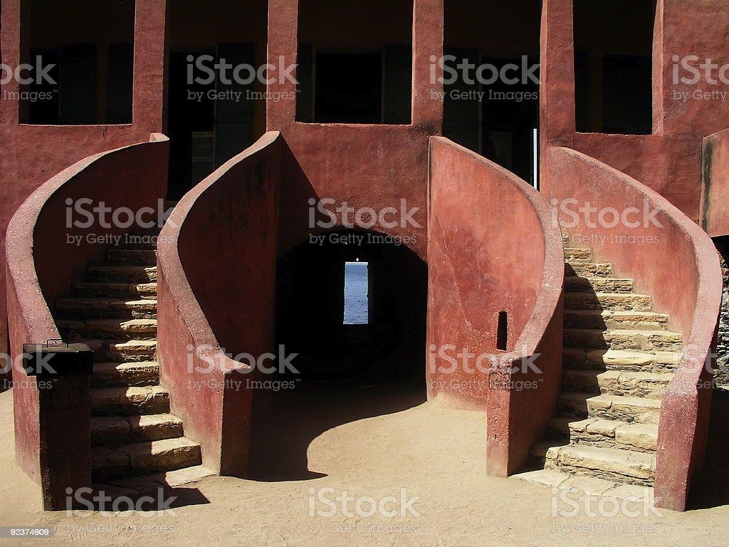 House of slaves, Dakar, Senegal royalty-free stock photo