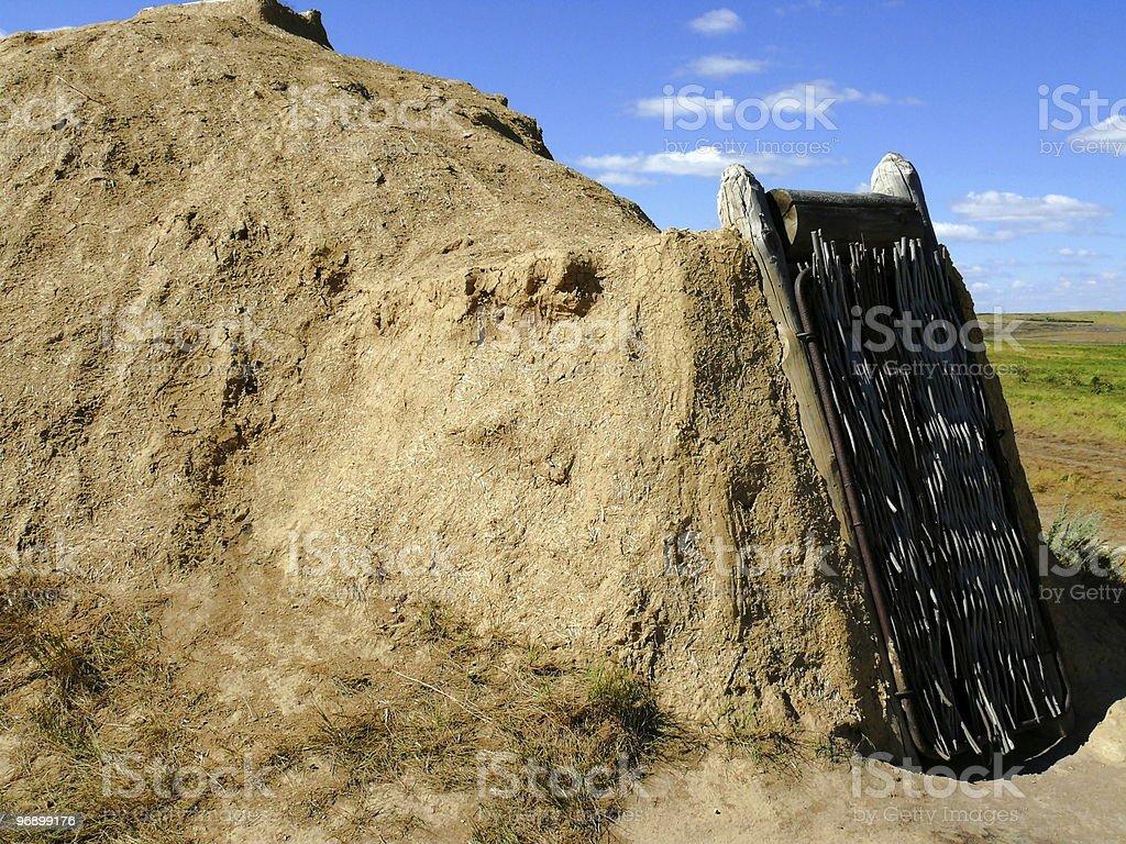 house of stone age (reconstruction) - Arkaim stock photo