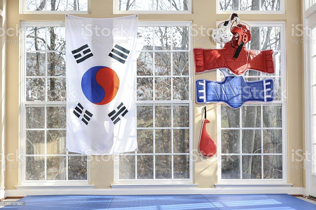 House of Tae Kwon Do stock photo