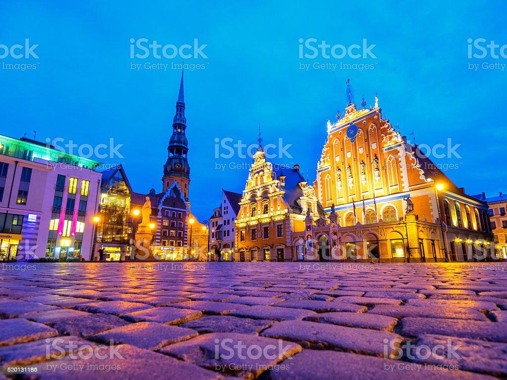 House of the Blackheads in Riga, Latvia stock photo