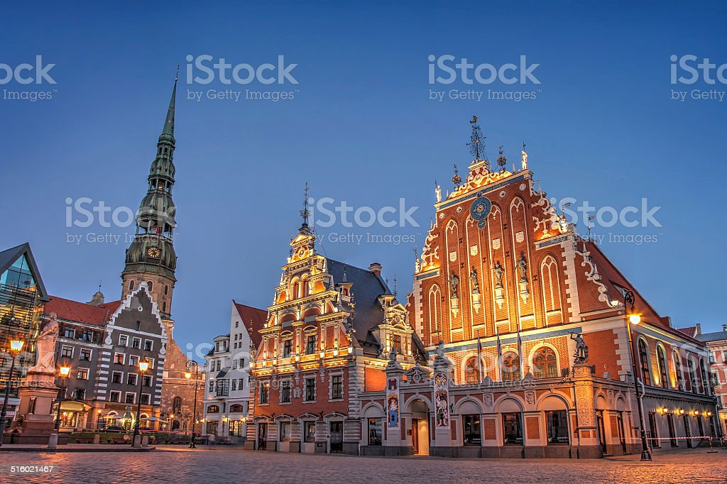 House of the Blackheads royalty-free stock photo