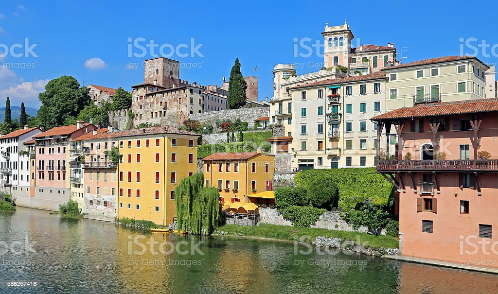 House of the city of Bassano City in Italy - foto stock
