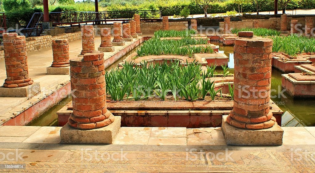 House of the Fountains in Conimbriga House of the Fountains in Conimbriga, Portugal Ancient Civilization Stock Photo