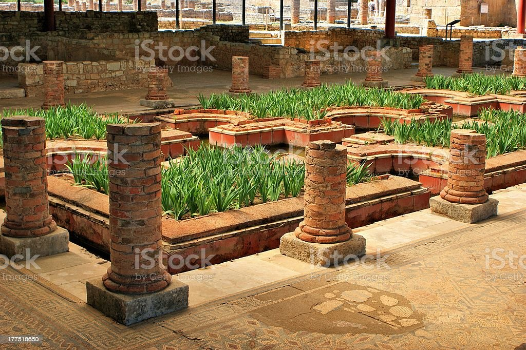 """House of the Fountains in Conimbriga """"House of the Fountains in Conimbriga, Portugal"""" Ancient Civilization Stock Photo"""