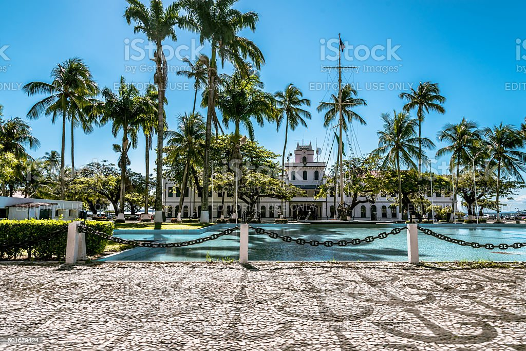 house of the marina in Salvador da Bahia Brazil stock photo
