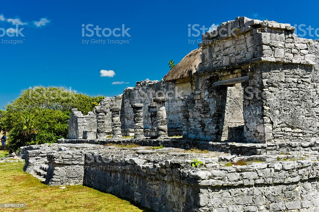 House of the nobleman of Tulum ストックフォト