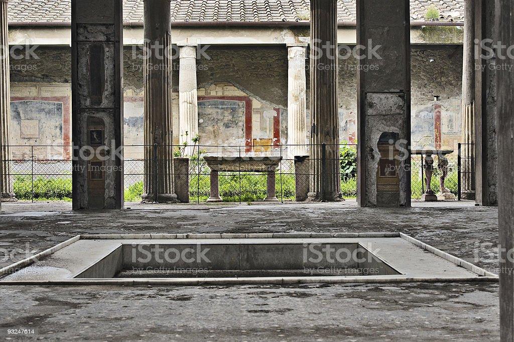 House of the Vettii atrium, Pompeii, Italy stock photo