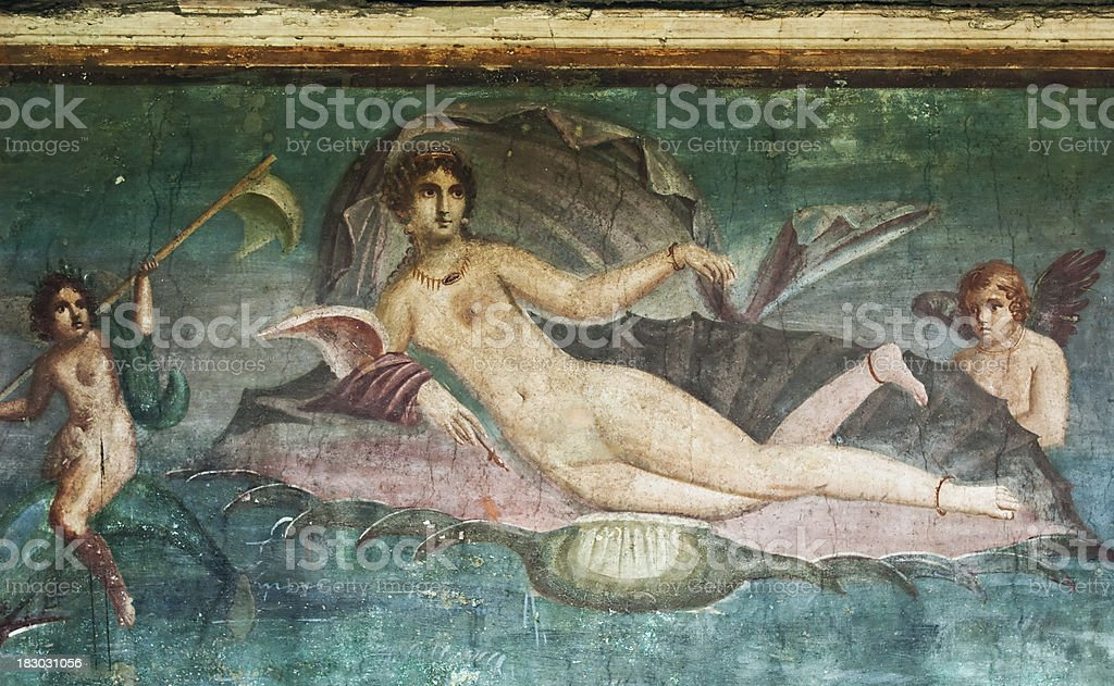 House of Venus, Pompeii stock photo