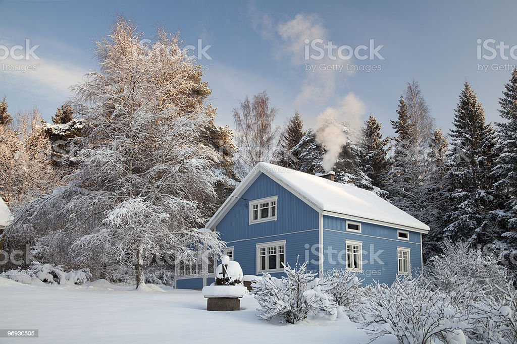 House of Winter royalty-free stock photo