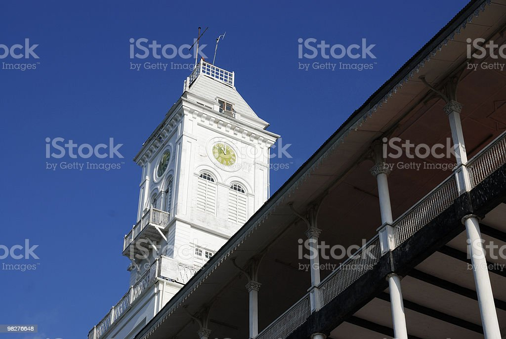 House of Wonder in Stone Town, Zanzibar royalty-free stock photo