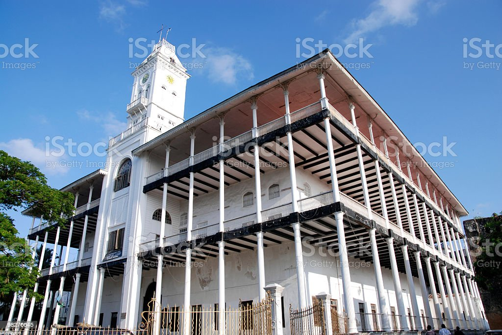 House of Wonders in Stone Town, Zanzibar royalty-free stock photo