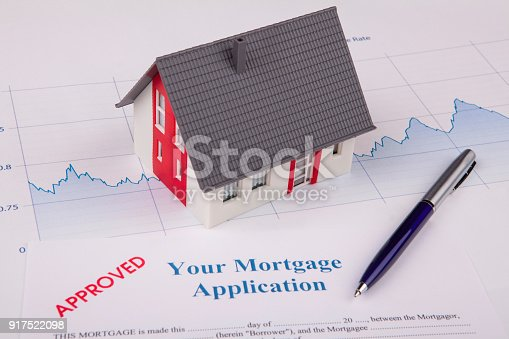 istock House on A Financial Graph 917522098