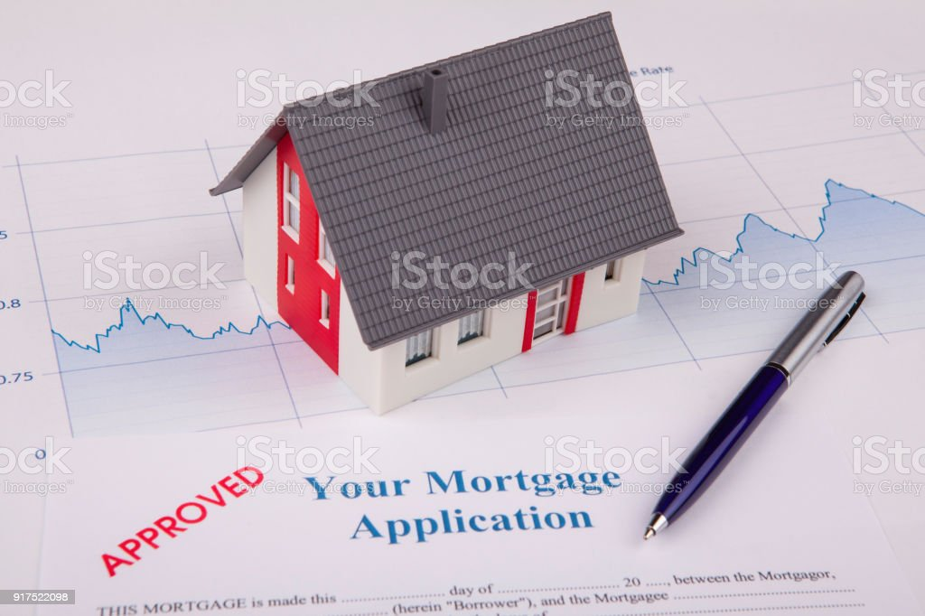 House on A Financial Graph stock photo