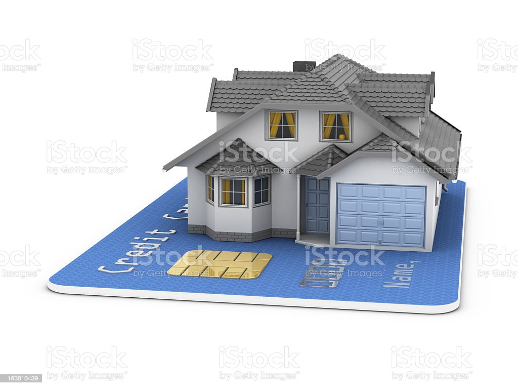House on Credit Card royalty-free stock photo