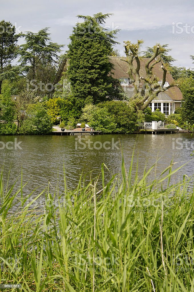 House on lake royalty-free stock photo