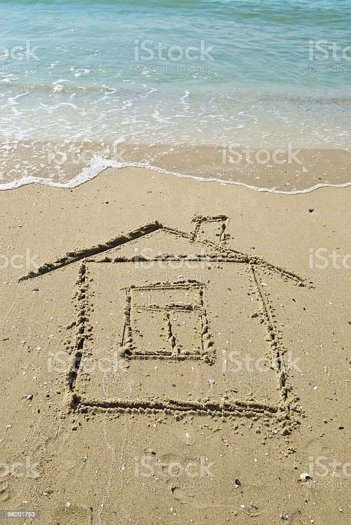 house on sand royalty-free stock photo