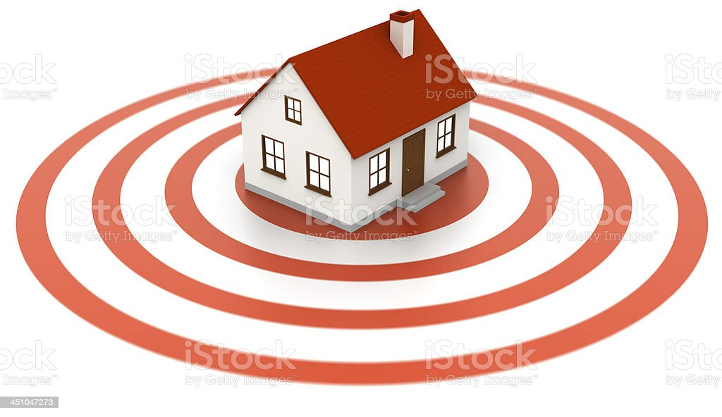 House on target royalty-free stock photo