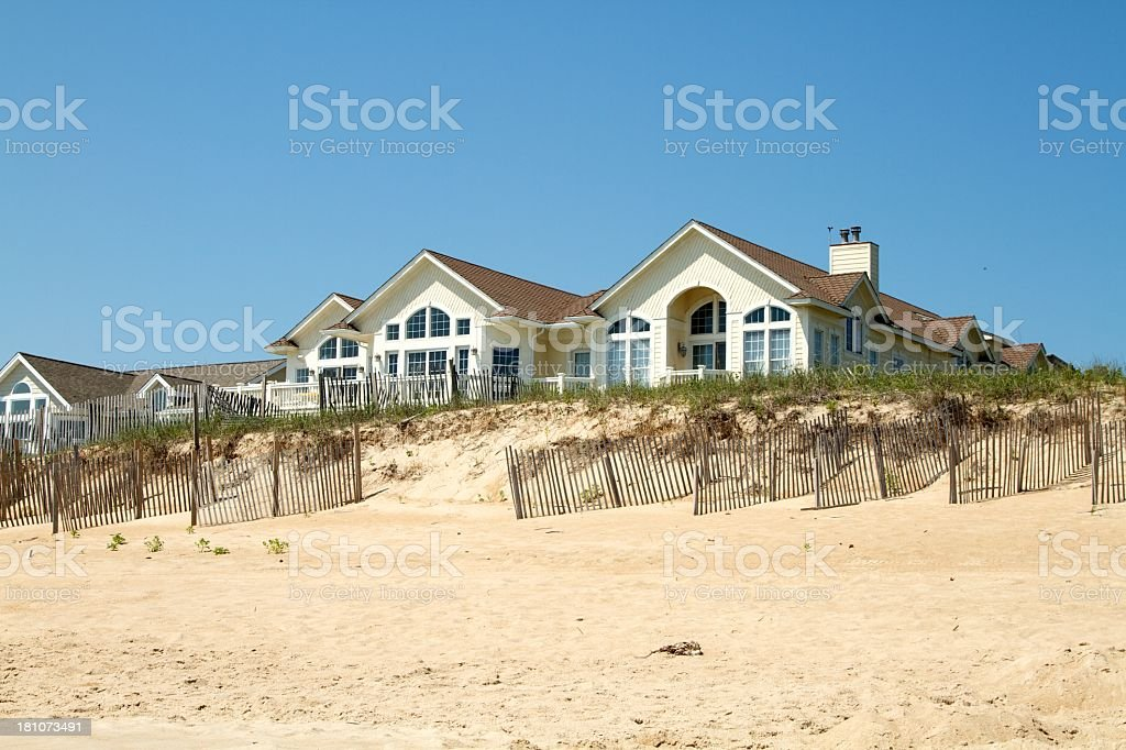 House on the beach royalty-free stock photo