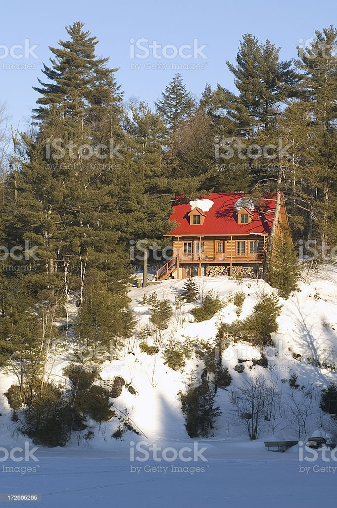 House on the cliff royalty-free stock photo