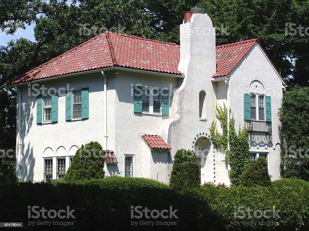 House on the Corner royalty-free stock photo