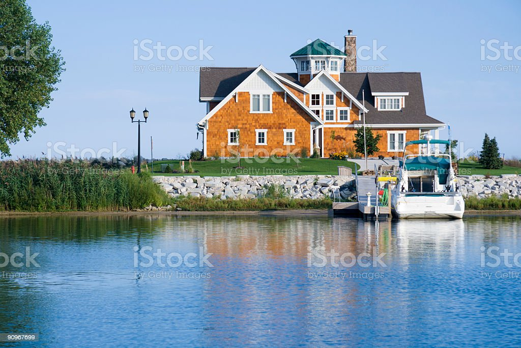 House on the harbor stock photo