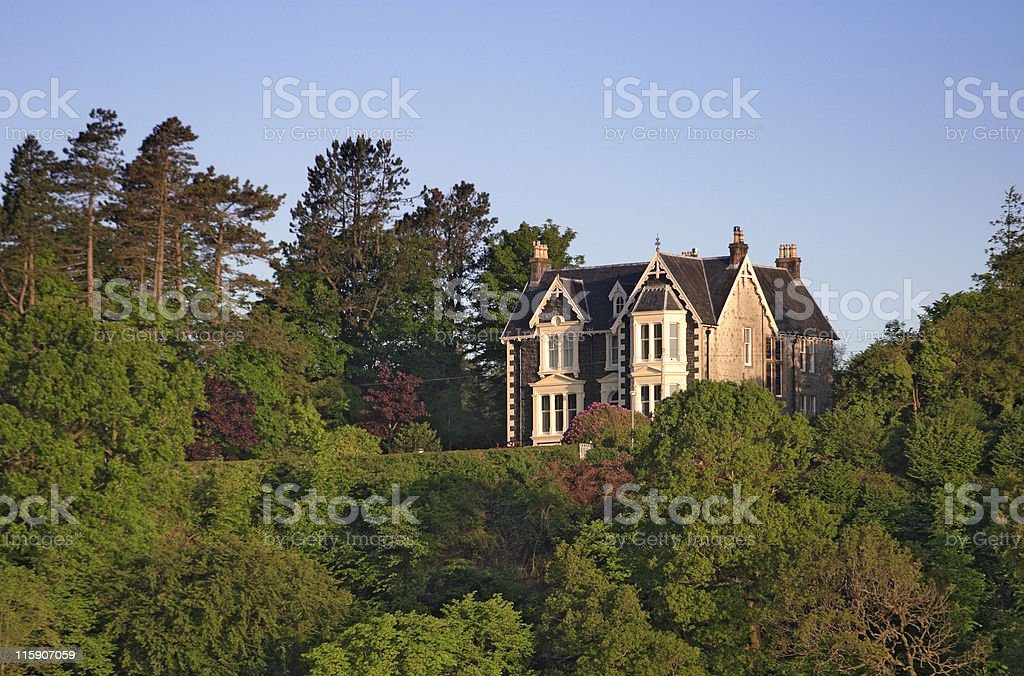 House on the hill. royalty-free stock photo